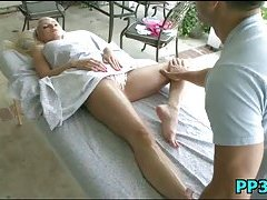 Slutty hottie massaged & pounded