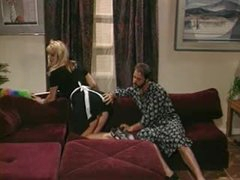 Hawt retro maid Laura Palmer foreplay and fuck