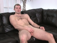 Dude strokes his own cock for pleasure in hd